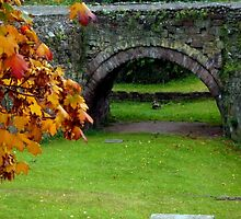 Roman Bridge in Autumn by Charmiene Maxwell-Batten