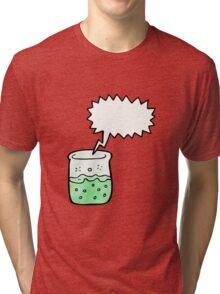cartoon chemical beaker Tri-blend T-Shirt