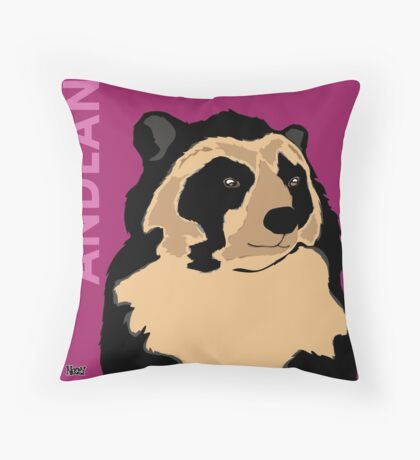 Andean Bear Throw Pillow