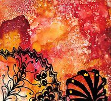 Orange Tangle by TangleCrazed