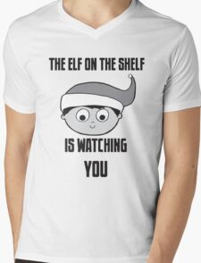 The Elf on the Shelf is Watching You Mens V-Neck T-Shirt