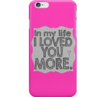 The Beatles In My Life Music Lyrics iPhone Case/Skin