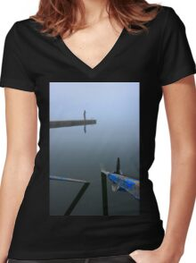 Lonely at the end of the world Women's Fitted V-Neck T-Shirt