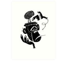 Numb Skull Monkey Art Print