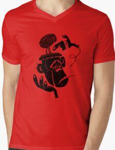 Numb Skull Monkey Mens V-Neck T-Shirt