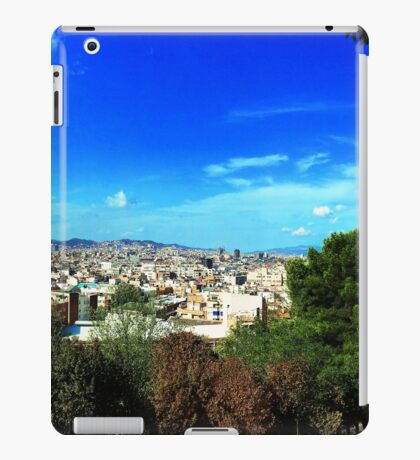 View of Barcelona iPad Case/Skin