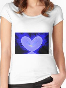 Cool Heart Women's Fitted Scoop T-Shirt