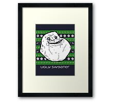 Forever Alone Ugly Sweater Framed Print