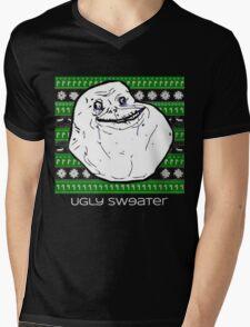 Forever Alone Ugly Sweater Mens V-Neck T-Shirt