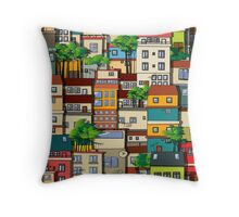Favela seamless pattern Throw Pillow