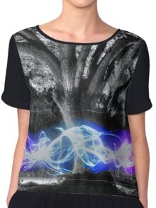Traveling Electricity HDR Chiffon Top