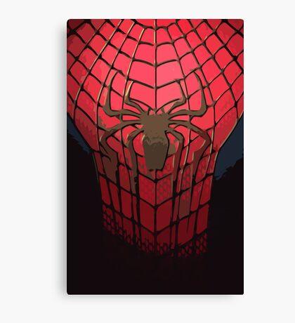 Comic-Colored Spider-Man Canvas Print