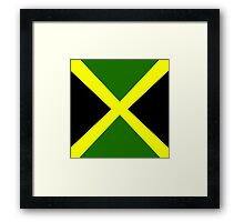 Jamaica Flag Framed Print
