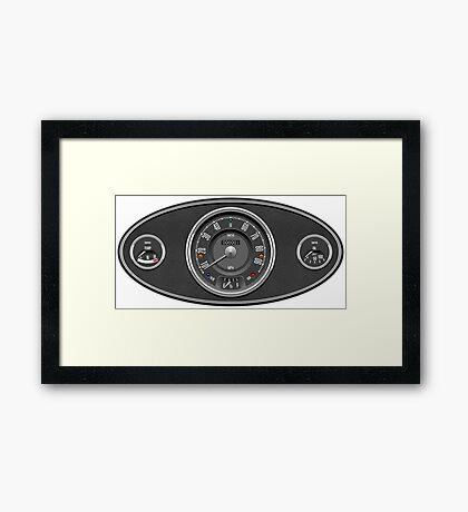 Classic Mini dashboard Framed Print