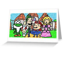 The Mushroom Kingdom Greeting Card