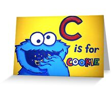 C is for Cookie Monster Greeting Card