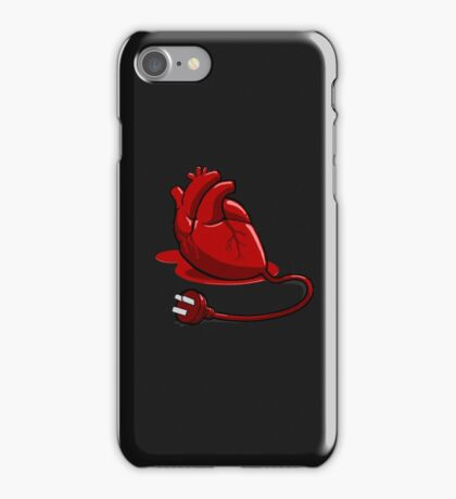 Unplug your heart iPhone Case/Skin