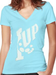 1UP 7UP Women's Fitted V-Neck T-Shirt
