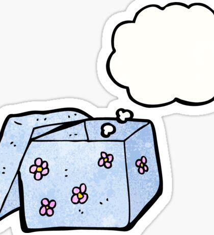 cartoon empty gift box Sticker