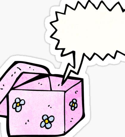 cartoon empty box Sticker