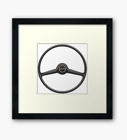 Classic mini steering wheel Framed Print