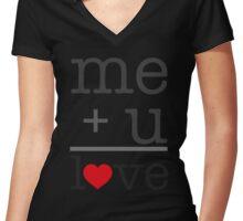 me + u = love V.1.1 Women's Fitted V-Neck T-Shirt