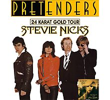 pretenders with stevie nicks 24 karat gold tour Photographic Print