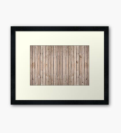 Weathered boards texture abstract Framed Print
