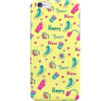 Happy New Year pattern iPhone Case/Skin