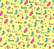 Happy New Year pattern by Viaire
