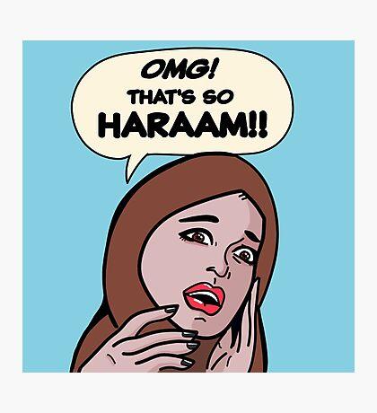 SO HARAAM Photographic Print