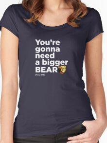 ROBUST Bear boat quote white Women's Fitted Scoop T-Shirt