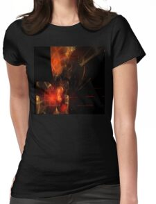 Red Gold Box Womens Fitted T-Shirt