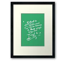Be You (Mint) Framed Print
