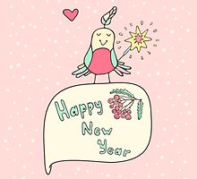 Happy New Year card by Viaire