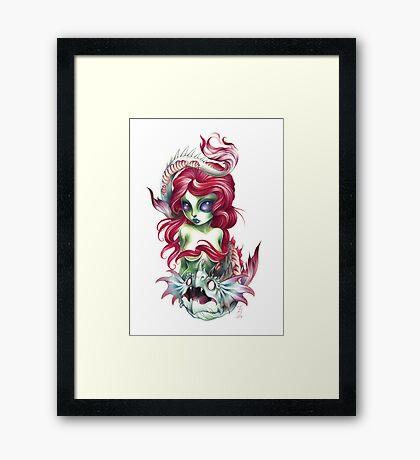 mermaid girl from mars Framed Print