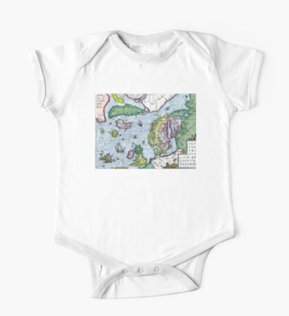 Map of Northern Europe - Ortelius - 1570 One Piece - Short Sleeve
