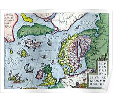 Map of Northern Europe - Ortelius - 1570 Poster