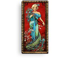 MM mucha red Canvas Print