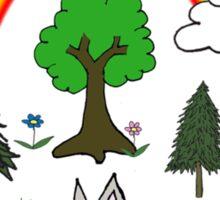 Cute Nature Scene Sticker