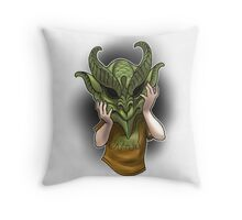 Trick or Treaters - Little Demon Throw Pillow