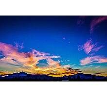 Sunset over the three Sisters Photographic Print