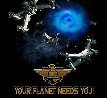 Planet Earth Needs YOU by jade-cooper-art