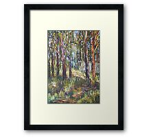 Gum Scrub - plein air paint out Framed Print