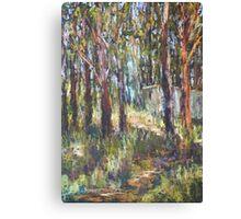 Gum Scrub - plein air paint out Canvas Print