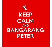 KEEP CALM - Keep Calm and Bangarang Peter // HOOK Photographic Print