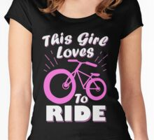 This Girl Loves To Ride Women's Fitted Scoop T-Shirt