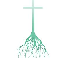 ROOTED FAITH (FADED GREEN) by PerpetualChange