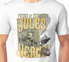 Jules Verne - Father of Steampunk Unisex T-Shirt