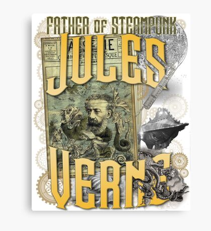 Jules Verne - Father of Steampunk Canvas Print
